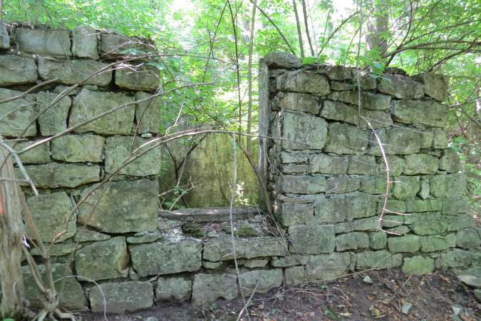 Old foundation on Big Blue Battlefield walking trail