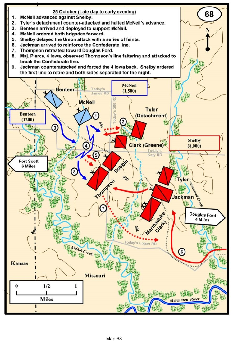 Map of Marmaton River Battlefield (Charles D. Collins, Jr.)