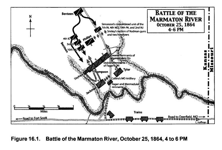 Map of Marmaton River Battlefield (Kyle Sinisi)