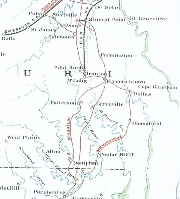 Southeastern Missouri from OR Atlas Plate 47, Map 1