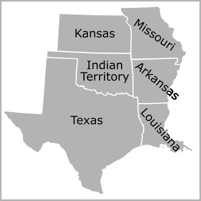 Trans-Mississippi region map