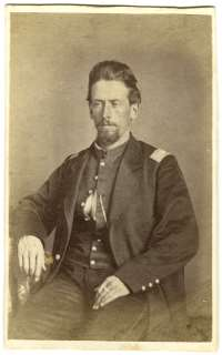 Colonel Charles R. Jennison [WICR 31691 in the collection of Wilson's Creek National Battlefield. Image courtesy of the National Park Service]