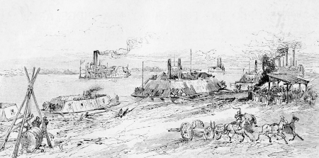Building the ironclad gunboats in Carondelet, Missouri