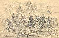 """Cavalry Charge"" by Edwin Forbes, courtesy of the Library of Congress"
