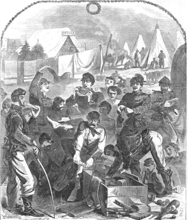 Christmas in camp from Harper's Weekly