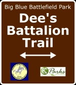 Sign for Dee's Battalion Trail