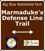 Sign for Marmaduke's Defense Line Trail