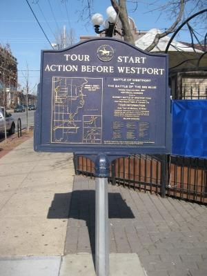 Action Before Westport Historical Marker