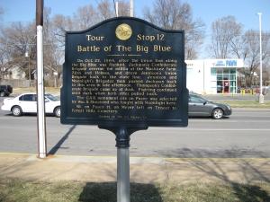 Battle of the Big Blue Historical Marker