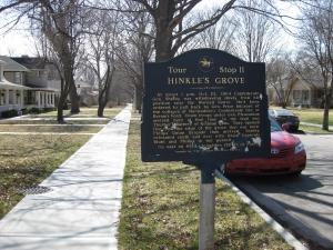Hinkle's Grove Historical Marker