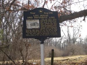 Log House and Defense Line Historical Marker