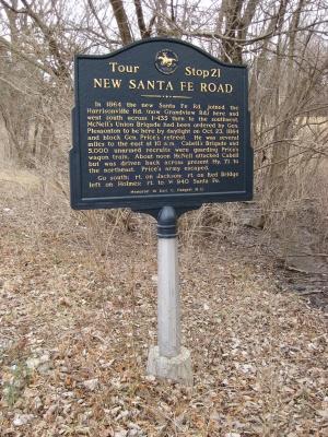 New Santa Fe Road Historical Marker