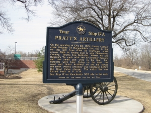 Pratt's Artillery Historical Marker
