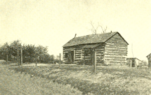 Log House along Byram's Ford Road on Bloody Hill