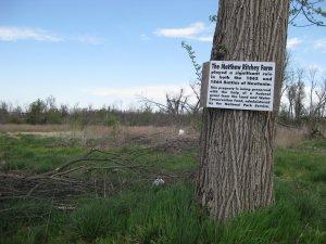 Site of Matthew Ritchey Farm on Newtonia Battlefield