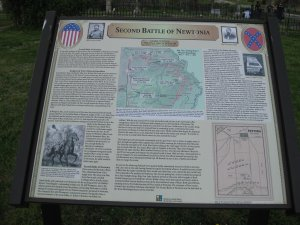 Second Battle of Newtonia Interpretive Sign