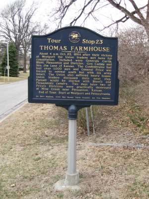 Thomas Farmhouse Historical Marker