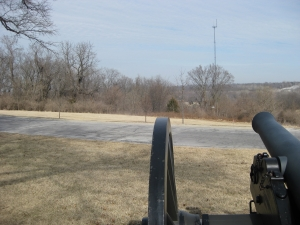 Looking toward Byram's Ford from Pratt's Artillery Battery
